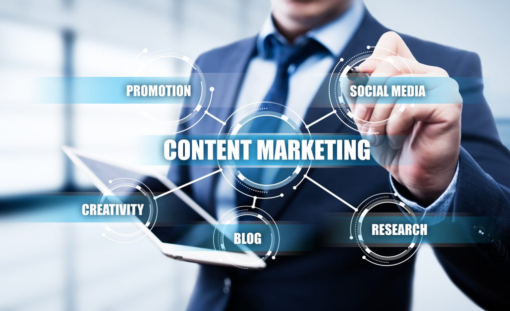 Content Marketing Strategy Business Technology Internet Concept